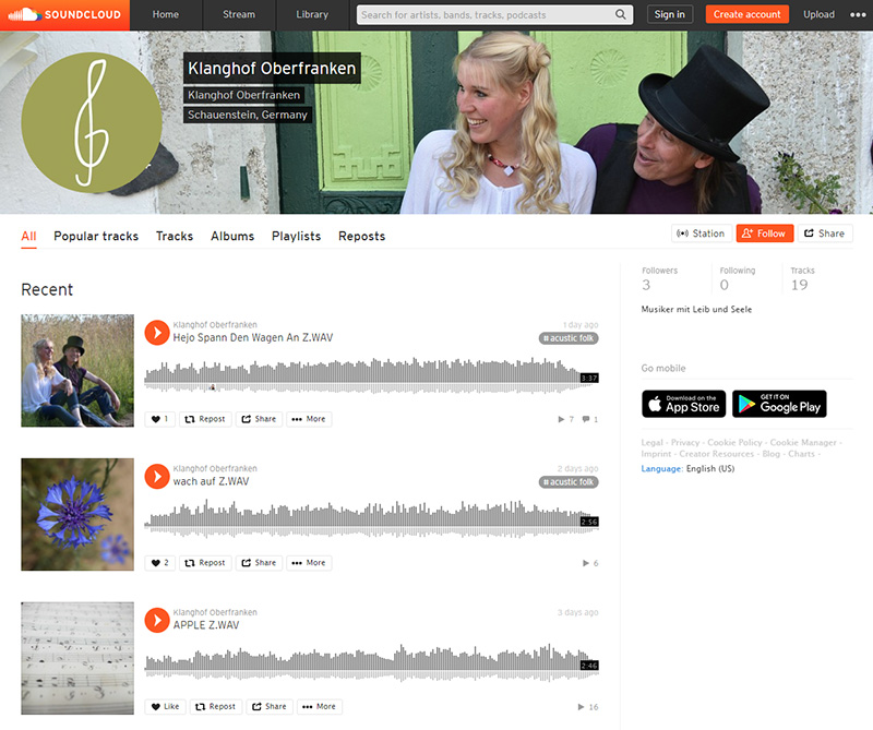 Klanghof Oberfranken auf Soundcloud.com